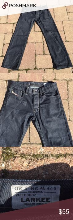 Diesel Larkee Straight Leg Jeans 29 x 30 Diesel Larkee Straight Leg Jeans,Button fly, five pocket jeans, diesel industry denim division, pictures are part of the description these are a really nice pair jeans. Diesel Jeans Straight