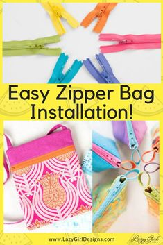 Sewing For Beginners Learning Learn this handy trick to install a zipper for all your zippered pouches, bags, and projects. Only use the teeth and skip sewing around the zipper pull bags for best results. Sewing Hacks, Sewing Tutorials, Sewing Tips, Sewing Ideas, Learn Sewing, Bag Tutorials, Sewing Crafts, Sewing Basics, Lazy Girl Designs