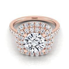 14k Rose Gold 1 3/4ct TDW Diamond IGI-certified Pave Shank (H-I, VS1-VS2) (Size - 10.5), Women's