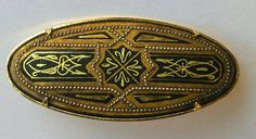 Broche damascène de Tolède Vintage par AuxBellesFrusques sur Etsy