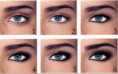 Use black eyeliner to define your eyes.. Make thicker lines at the outside corners of the eye and smudge :) simples :)
