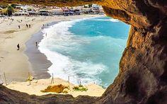 #Felsen und #Strand von #Matala #Kreta © Petra Kulterer
