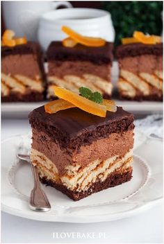 Gourmet Desserts, Gourmet Recipes, Cake Recipes, Dessert Recipes, Polish Recipes, Food Cakes, Food Plating, Food To Make, Nutella