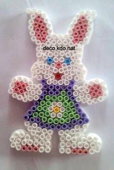 Easter bunny hama perler beads by deco.kdo.nat: