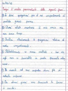 Didattica scuola primaria verifica di analisi logica per for Analisi grammaticale di diversi