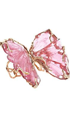 ☆ Hot Mystery ... ☆ http://www.barneys.com/Lucifer-Vir-Honestus-Pink-Tourmaline-Double-Butterfly-Ring/00505023297371,default,pd.html?cgid=womens-jewelry=24