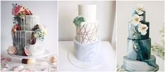 23 Unique and Elegant Marble Wedding Cake Ideas 2017