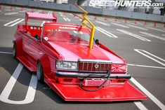 never heard about 'bosozoku style' ? just google it. this car is just one of many crazy japs car modifications