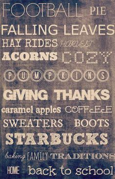 Reasons we love fall :)