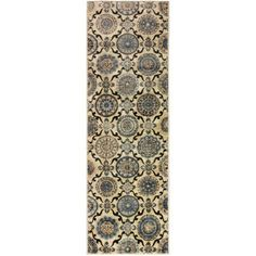 Superior Abner Collection with 10mm Pile and Jute Backing, Moisture Resistant and Anti-Static Indoor Area Rug, Beige