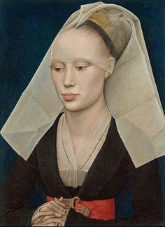 Portrait of a Lady. c.1460 - Rogier van der Weyden ( Оil on panel, 34 x 25.5 cm, National Gallery of Art, Washington ).