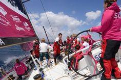 Les filles du Team SCA à l'entraînement à Lanzarote ! Credit : Team SCA / Volvo Ocean Race