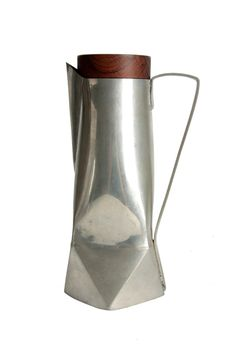 Anonymous; Pewter and Rosewood Pitcher, 1960s.