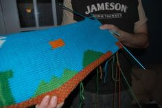 You would not believe how many geeky knitting projects there are online