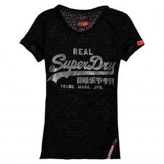 Superdry Vintage Logo Burnout shirt dames sport code black De Wit Schijndel
