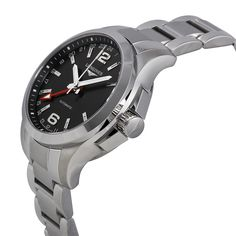 Longines Conquest Automatic Black Dial Stainless Steel Men's Watch L3.687.4.56.6 - Longines - Shop Watches by Brand - Jomashop