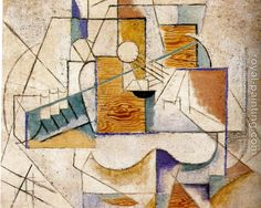 Pablo picasso - guitar on a table