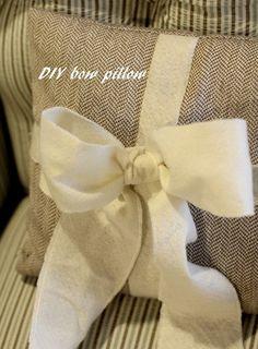 DIY bow pillow love