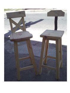 Taburetes Banquetas Altas,sillas Bar Pintadas Reforzadas