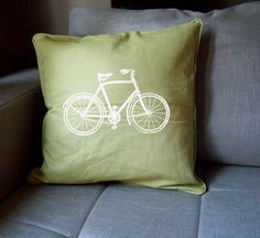 VINTAGE BIKE Large Throw Pillow