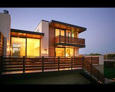 modern exterior railings - Google Search