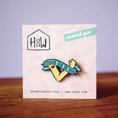 Stronger Than You Think Enamel Pin Badge: 25mm Empowering Feminist Brooch  Or Lapel Pin.