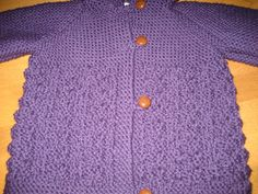 Child Jacket With Hood Size 2 or 4 in Thick 100% Wool Knitted - pinned by pin4etsy.com