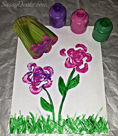 stamping celery kids craft