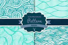 Check out Waves pattern set 2 by Markovka on Creative Market