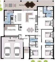 Duplex Floor Plans, Home Design Floor Plans, Dream Home Design, House Floor Plans, Modern House Design, Model House Plan, Dream House Plans, Small House Plans, Modern Architecture House