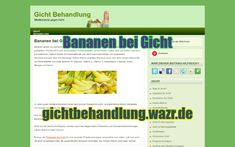 Bananen bei Gicht - Lebensmittel / Ernährung Gout Diet, Complex Carbohydrates, Natural Remedies, Good Books