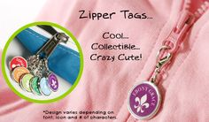 These zipper tags are perfect for diaper bags, backpacks, jackets, etc. We have some - could always use more!