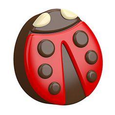Chocolate covered Oreos Ladybug