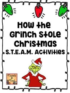 How the Grinch Stole Christmas S. Activities by Tootsie and Teed