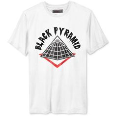 Black Pyramid Men's Drip Logo T-Shirt ($28) ❤ liked on Polyvore featuring men's fashion, men's clothing, men's shirts, men's t-shirts, white, mens white shirts, mens white t shirts, mens white crew neck t shirts, mens t shirts and mens crew neck t shirts