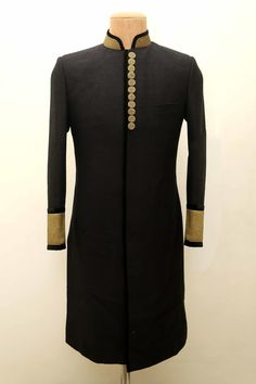 High neck bandhgala with full sleeves