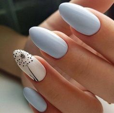 In search for some nail designs and ideas for your nails? Listed here is our list of must-try coffin acrylic nails for stylish women. White Nail Designs, Simple Nail Art Designs, Nail Designs Spring, Acrylic Nail Designs, Acrylic Nails, Almond Shaped Nail Designs, Simple Art, Spring Nail Art, Spring Nails