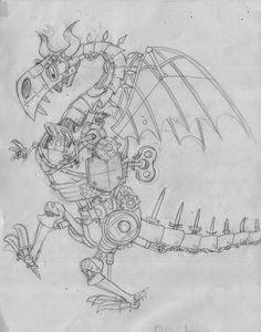 Elys Dolan's final design for the Clockwork Dragon.