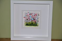 Handmade Fused Glass Art  Wild Flowers Picture