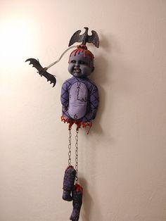 Creepy Baby Dolls, Doll Drawing, Broken Doll, Stoner Art, Creepy Art, Creepy Halloween, Purple And Black, Devil, Upcycle