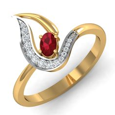 Ruby Ring Design 0.25 Ct Real Certified Diamond Gold Weekend