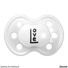 Love Pacifier  Be Sure to check out the link for more options!  #love #emotion #black #white #letter #word #language #text #clothes #apparel #fashion #style #baby #kid #toddler #girl #boy #lifestyle #life #design #chic #modern #contemporary #fun #cute #cool #zazzle #buy #sale #tee #t-shirt #hoody #long #sleeve #shirt #sweatshirt #mom #expecting #shower #gift