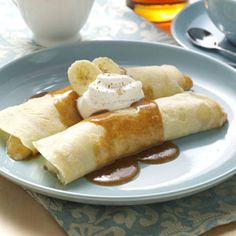 French Banana Pancakes Recipe from Taste of Home | These pancakes are a real breakfast favorite.