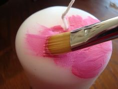 paint candles with melted crayons
