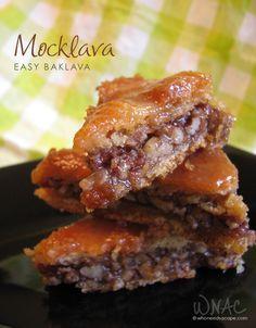 Mocklava (Easy Baklava) made with Pillsbury Crescent Roll dough