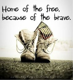 FREEDOM IS NEVER FREE. SUPPORT OUR TROOPS!