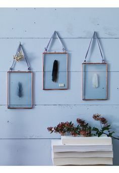 Three Delicate Hanging Frames - Copper NEW