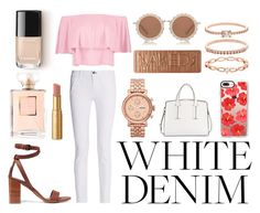 """""""White Denim"""" by sabrinajbrowne ❤ liked on Polyvore featuring rag & bone, Vince, Boohoo, French Connection, FOSSIL, Casetify, House of Holland, Accessorize, Chanel and Urban Decay"""