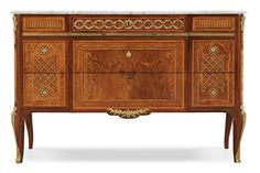 ** A Royal commode made by Georg Haupt 1782 for prince Karl Gustav, Duke of Småland, the second son of Gustav III.