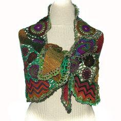 Freeform shawl, scarf, wrap.